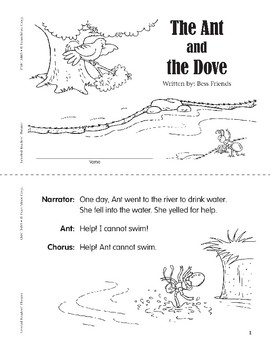 The Ant and the Dove (Leveled Readers' Theater, Grade 1)