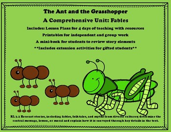 It is an image of Exceptional The Ant and the Grasshopper Story Printable