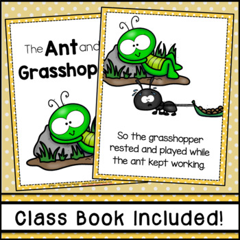 The Ant and the Grasshopper Fable Emergent Reader
