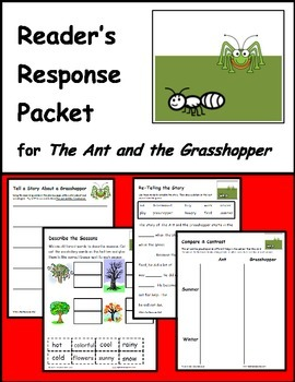 The Ant and the Grasshopper - Fable Reading Response Packet
