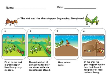The Ant and the Grasshopper Aesop Fable Reading Comprehension Passage