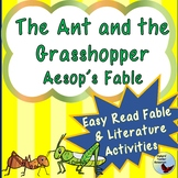 The Ant and the Grasshopper Aesop Fable Reading Comprehens