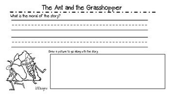 photograph regarding The Ant and the Grasshopper Story Printable called The Ant And The Grhopper Fable Worksheets Schooling