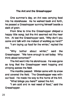 The Ant and the Grasshopper - Short Story