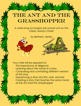 The Ant and the Grasshopper: pre-k unit on diligence