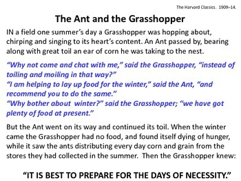 The Ant and the Grasshopper_Analysis of Standard 4 Words and Phrases