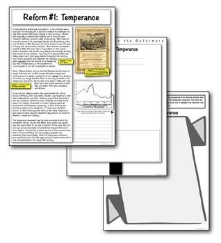 Antebellum Temperance Reform Movement! Students analyze, organize, & create!