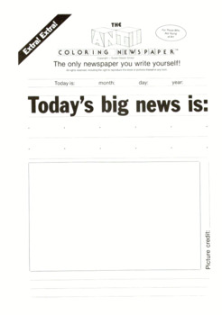 The Anti-Coloring Newspaper!