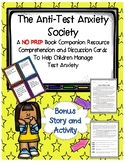 The Anti Test Anxiety Society Julia Cook Comprehension Cards Extension Activity