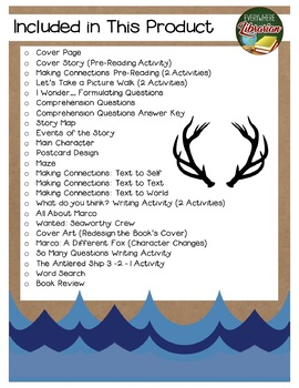 The Antlered Ship by Dashka 25 Book Extension Activities NO PREP