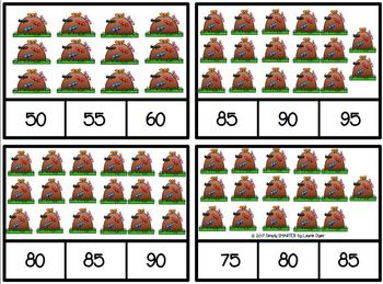 The Ants Go Marching 5 By 5:  LOW PREP Skip Counting Clip Cards