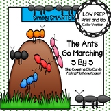 LOW PREP Ant Themed Skip Counting Clip Cards