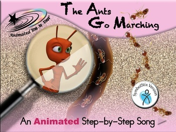 The Ants Go Marching - Animated Step-by-Step Song - SymbolStix