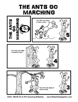 The Ants Go Marching Flip Booklet