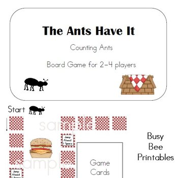 The Ants Have It Board Game - Counting 1-6