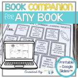 Speech Therapy Book Companion Open-Ended for Any Book