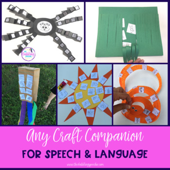 """The Any """"CRAFT"""" Companion Pack For Speech & Language Therapy"""