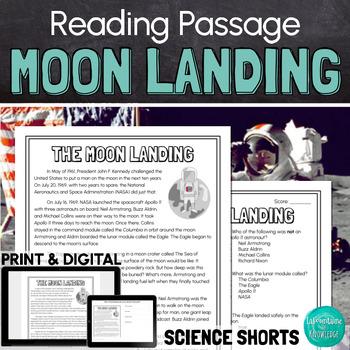 The Apollo 11 Moon Landing Reading Comprehension Passage