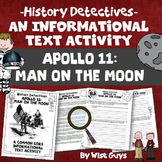 The Apollo Missions Man Landing on the Moon Informational Text Activity