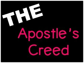The Apostles' Creed Posters