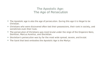 The Apostolic Age of the Church