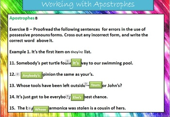 The Apostrophe Introduction PowerPoint and Handout Bundle