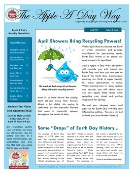 The Apple A Day Way for April:  April Showers Bring Recycling Powers