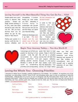 The Apple A Day Way for February 2015:  Finding Your Purposeful Passion