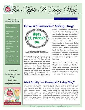The Apple A Day Way for March:  Have a Shamrockin' Spring Fling!
