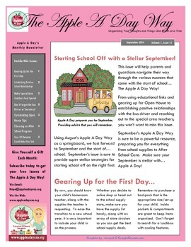 The Apple A Day Way for September: Starting School Off with a Stellar September!