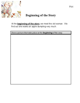 The Apple Dumpling Sequence of Events and Main Idea Lesson Plan Sheets