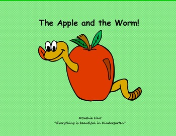 """""""The Apple and The Worm""""  A Fall Sight Word Game"""