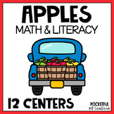 Apples Math and Literacy Centers for Pre-K and Kindergarten