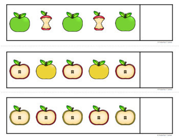Apples Math and Literacy Centers for Pre-K and Kindergarten {BUNDLE}