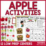 Apple Centers: Math & Literacy Activities for Pre-K & Kindergarten BUNDLE