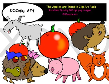 The Apples are Trouble Clipart Pack