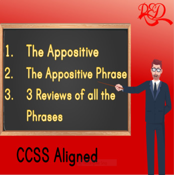 The Appositive and the Appositive Phrase and 3 Reviews BUNDLE, Free Preview