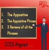 Appositive Phrases ❘ Grade 7 Grammar Worksheet and Assessment Pack