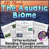The Aquatic Biome Reading Passages (3 levels), Vocabulary