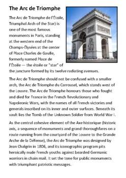 The Arc de Triomphe Handout