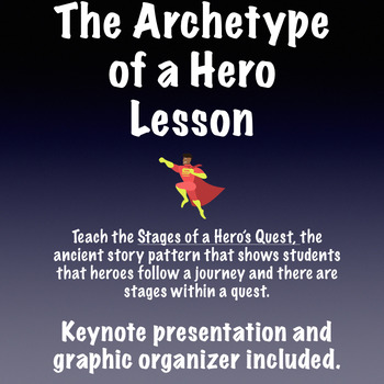 The Archetype of a Hero Presentation and Graphic Organizer