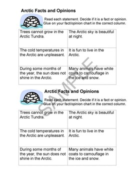 """The Arctic"" Common Core Aligned Math and Literacy Unit - ACTIVboard EDITION"