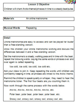 The Arctic - Four Themed Music Lessons for 1st Grade