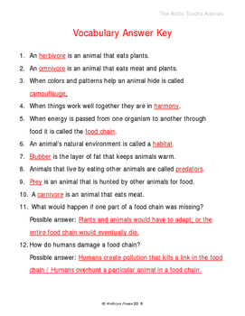 The Arctic Tundra Animals Part 3 of 3 An Integrated Science and ELA Poem