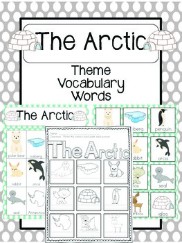 The Arctic Vocabulary Cards