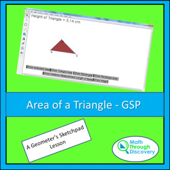Geometry:  Area of a Triangle - GSP
