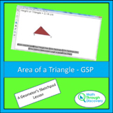 Geometry - Area of a Triangle - GSP