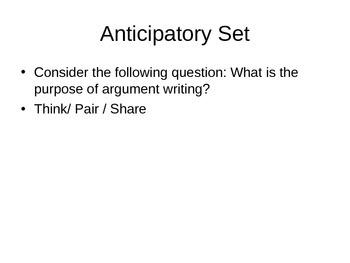 Common Core Argument Essay