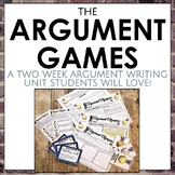 The Argument Games: Two Week Argument Writing Unit for Grades 6-10