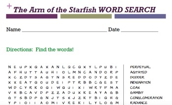 The Arm of the Starfish WORD SEARCH